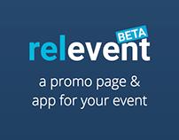 relevent promo page & event app building service