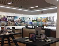 iStore Brooklyn in-store wall graphic
