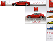 TESLA MOTORS Model S banner ads