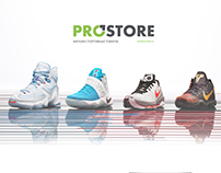 "Mobile version of online sportswear shop""ProStore"""