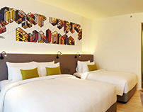 TYPO ART for TRIPLE Y HOTEL bySamyan Mitrtown, Bangkok