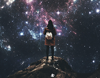 girl on galaxy