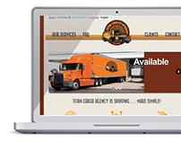 Logo and Website Design - Titan Cargo Agency