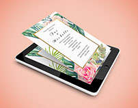 Soft Copy Digital Wedding Invitation New Zealand