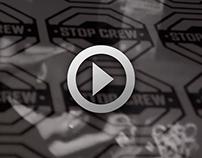 STOP CREW STREET STICKERS