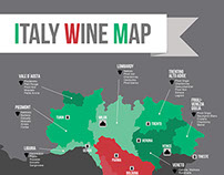 WORLD WINE - italy wine map poster