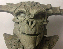 Escultura en plastilina