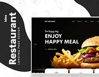 Dev Restaurant Web UI/UX Design Free Download