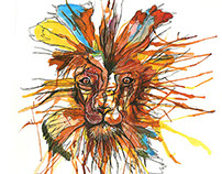 Lion design tattoo