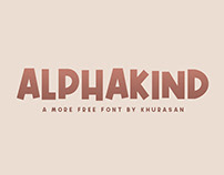 Free Alphakind Display Font