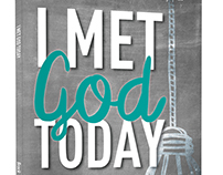 Cover Design. I Met God Today: Ordinary Events . . .