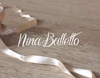 Identidad para zapatillas Nina Balletto.