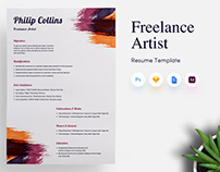 Freelance Artist CV/Resume Template