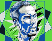 Virgil van Dijk Fan art with Adobe Draw