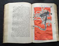 Dessin libre dans un livre. Free drawing in book.