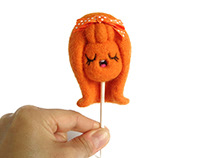 Lollie Orange, lollipop girl Art Toy