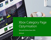 Microsoft Store Xbox category page redesign