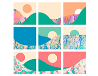 Lavas, valleys & seas - Abstract Storyboard