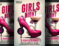 Girls-Ladies Night Party Flyer Template