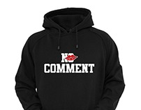 No Comment Hoodie Design Concepts