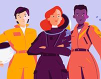 Astronauts - Strong Women
