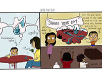 Comic strips for BOOKOSMIA -smell of books