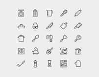 Kitchen Utensils Vector Icons