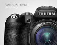 Fujifilm FinePix HS20 camera drawing