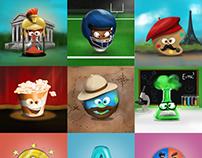 Slot machine Illustrator Icons