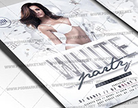 White Party Event Flyer - PSD Template