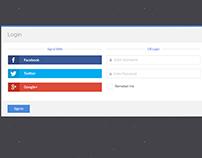 Login with Facebook PSD Design