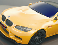 BMW M3 Coupe Orange