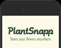 PlantSnapp - Ux/Ui Design for conceptual APP