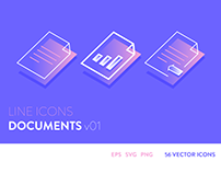 Line Icons - Documents