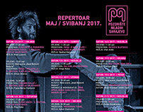 Youth Sarajevo Theater / Monthly Repertoire / May 2017