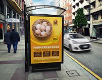 Farm Fresh Eggs Poster Template