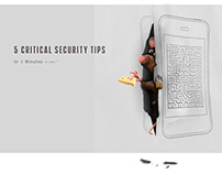 """""""5 Critical Mobile Security Tips"""" Infographic"""