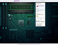 Tessla - advertising concept for the Yahoo login page.