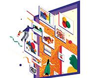 Illustration for BIBF illustration exhibition