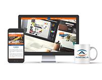 América Publicidad website design
