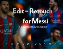 Edit and retouch for messi