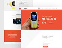 Nokia 3310 Website Redesign Concept