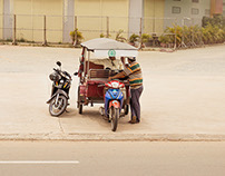 Waiting drivers, Cambodia