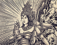 Sarasvati Goddess | Design available for sale