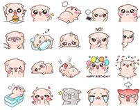 Pinky Pig Sticker