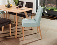 Ena - wooden upholstered chair