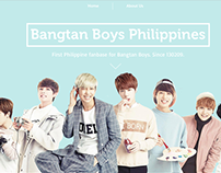 Bangtan Boys PH Web Design