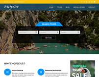 Tripster - Travel and tourism website template