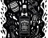 Cartel para Jack Daniels en la revista Vice Colombia