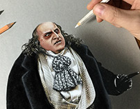 Portrait of Danny DeVito as Penguin from Batman Returns